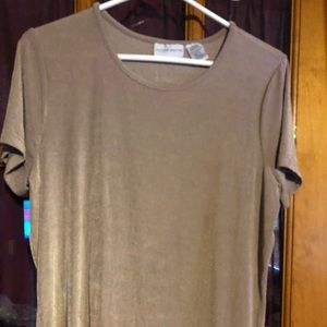 Jaclyn Smith top Beige